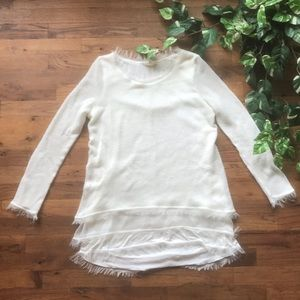 Easel frayed end sweater